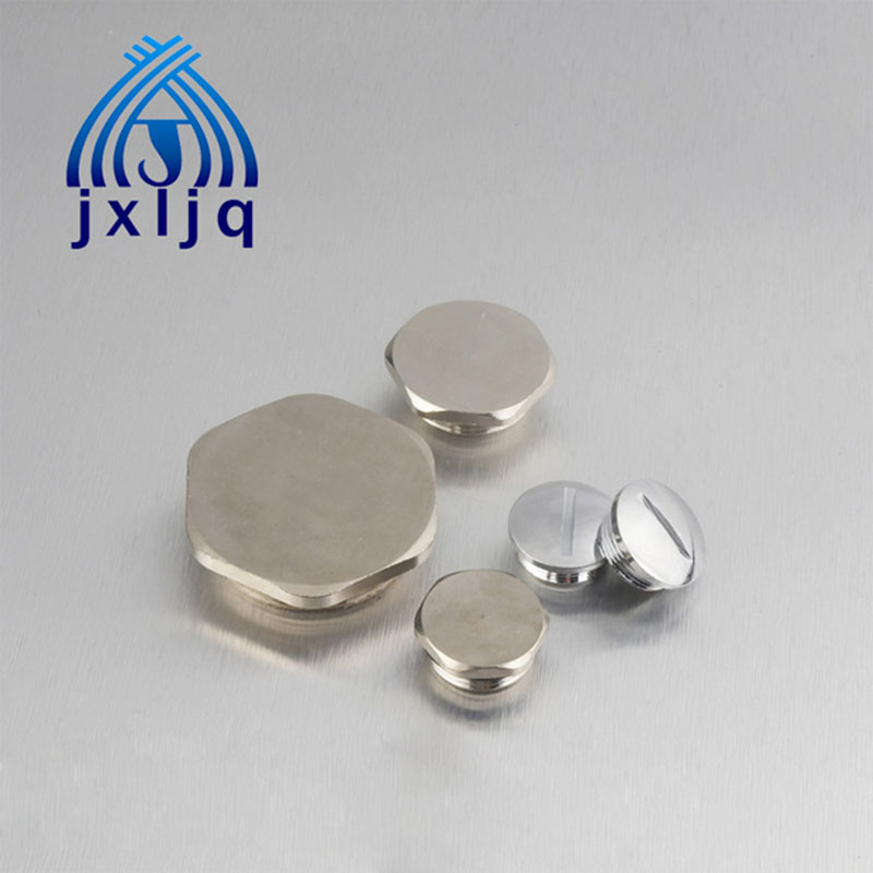 Round Brass Screw Cap
