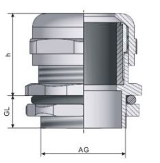 EMC Brass Cable Gland Vendor_EMC Brass Cable Gland drawing
